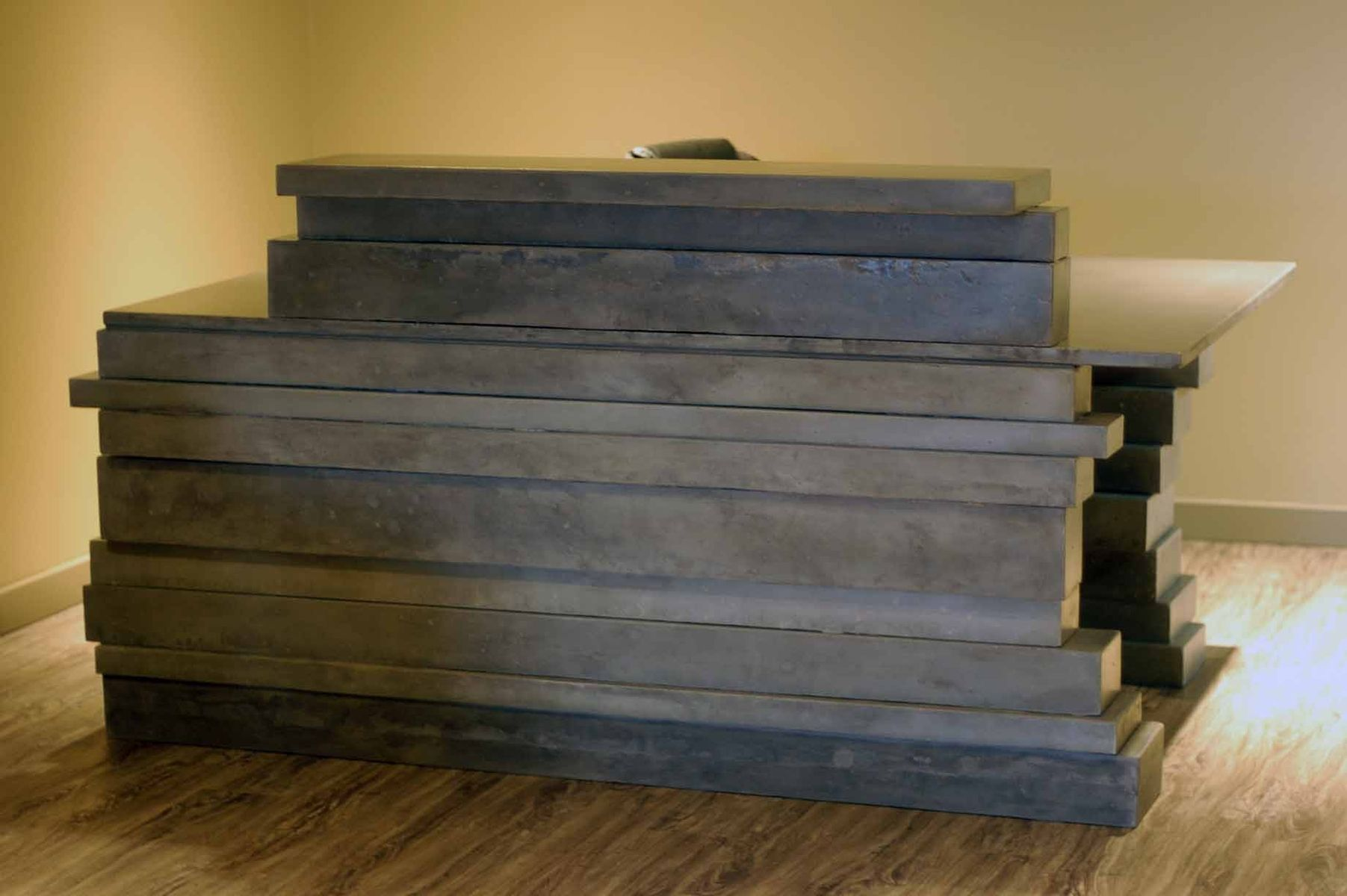 cool custom reception desk furniture | Hand Made Concrete Reception Desk by VanDorn Turpen ...