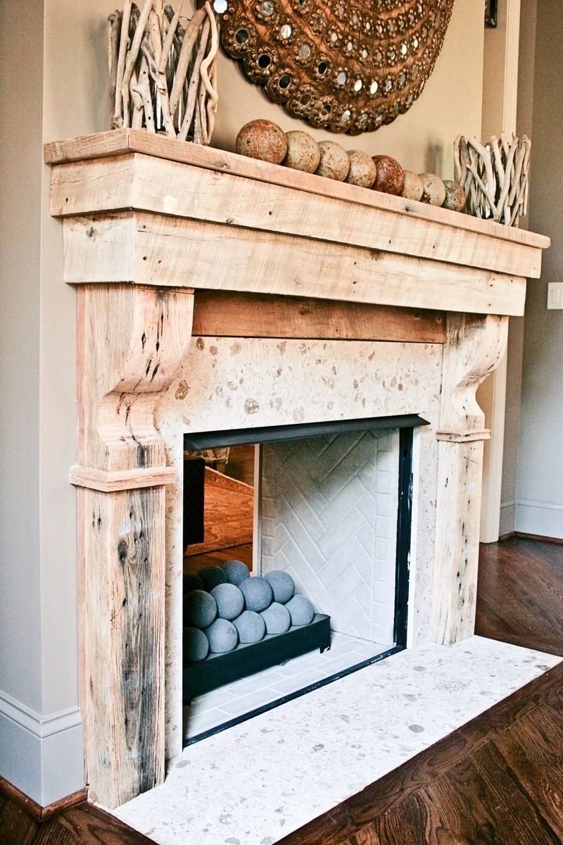 Hand Crafted Reclaimed Wood Mantle By Kidd Epps Art Shop