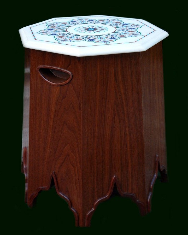 Hand Made Taj Mahal Table By Michael Creed Craft Artist