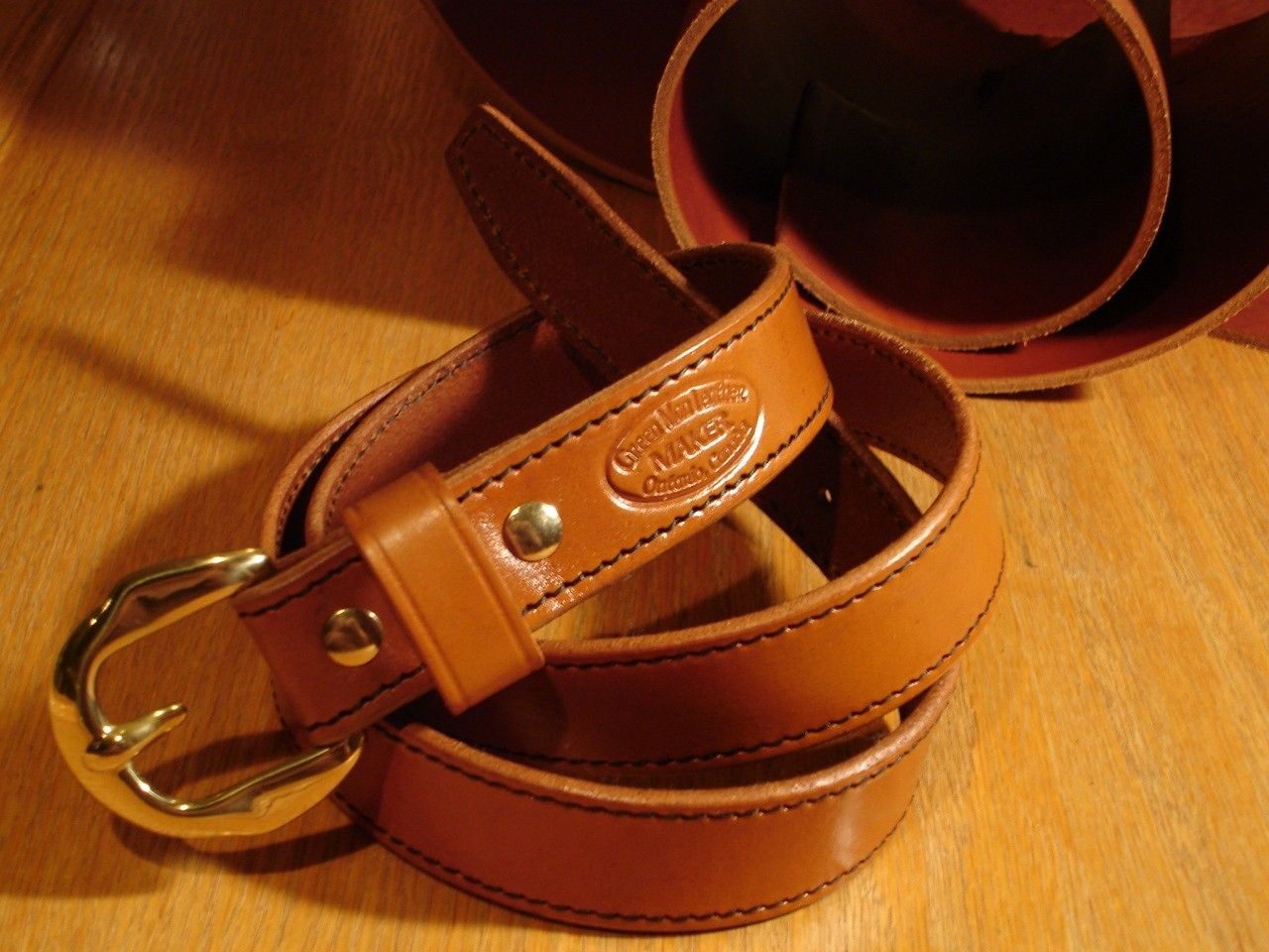 crafted bridle dress belts by green leather inc