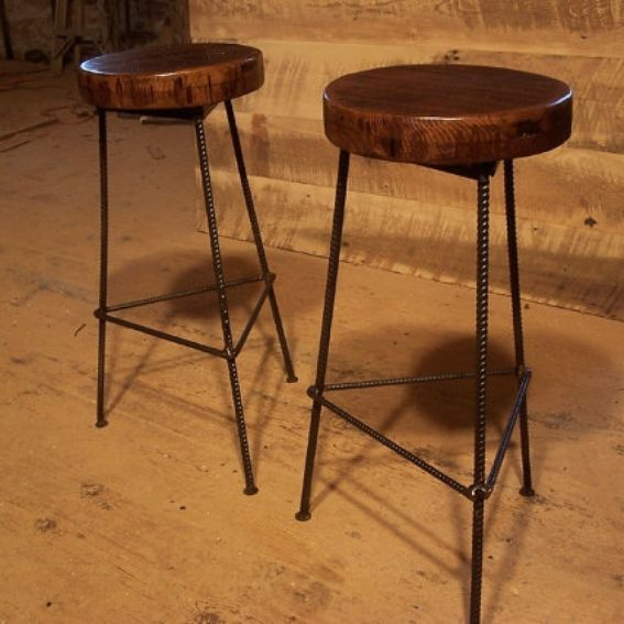 Bar Custom Wood And Woods: Buy Hand Made Reclaimed Wood Bar Stools With Industrial