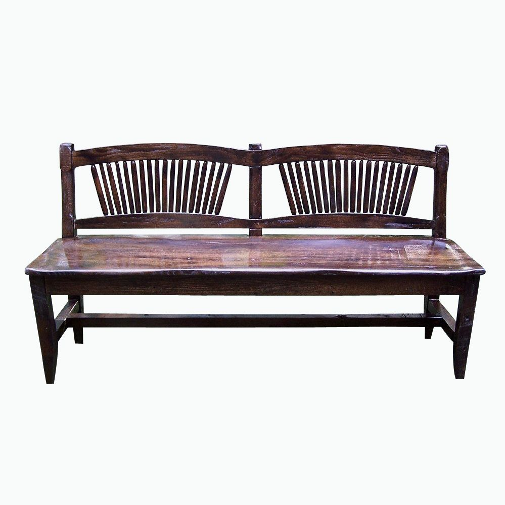 Buy A Custom Reclaimed Antique Oak Rustic Spindle Back Bench Made To Order From The Strong Oaks