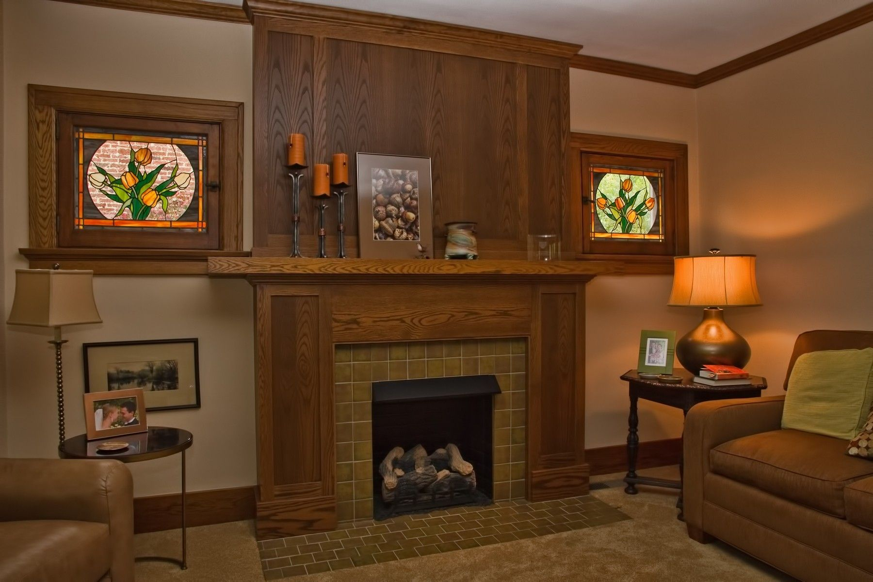 Custom Oak Arts Crafts Mantel By Haas Distinctive Woodworks Llc