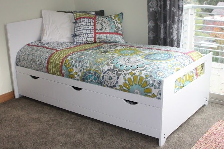 Hand Crafted Twin Bed With Storage By Kbj Woodworks