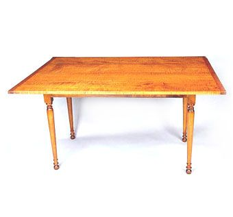 Custom Made Tiger Maple Dining Table