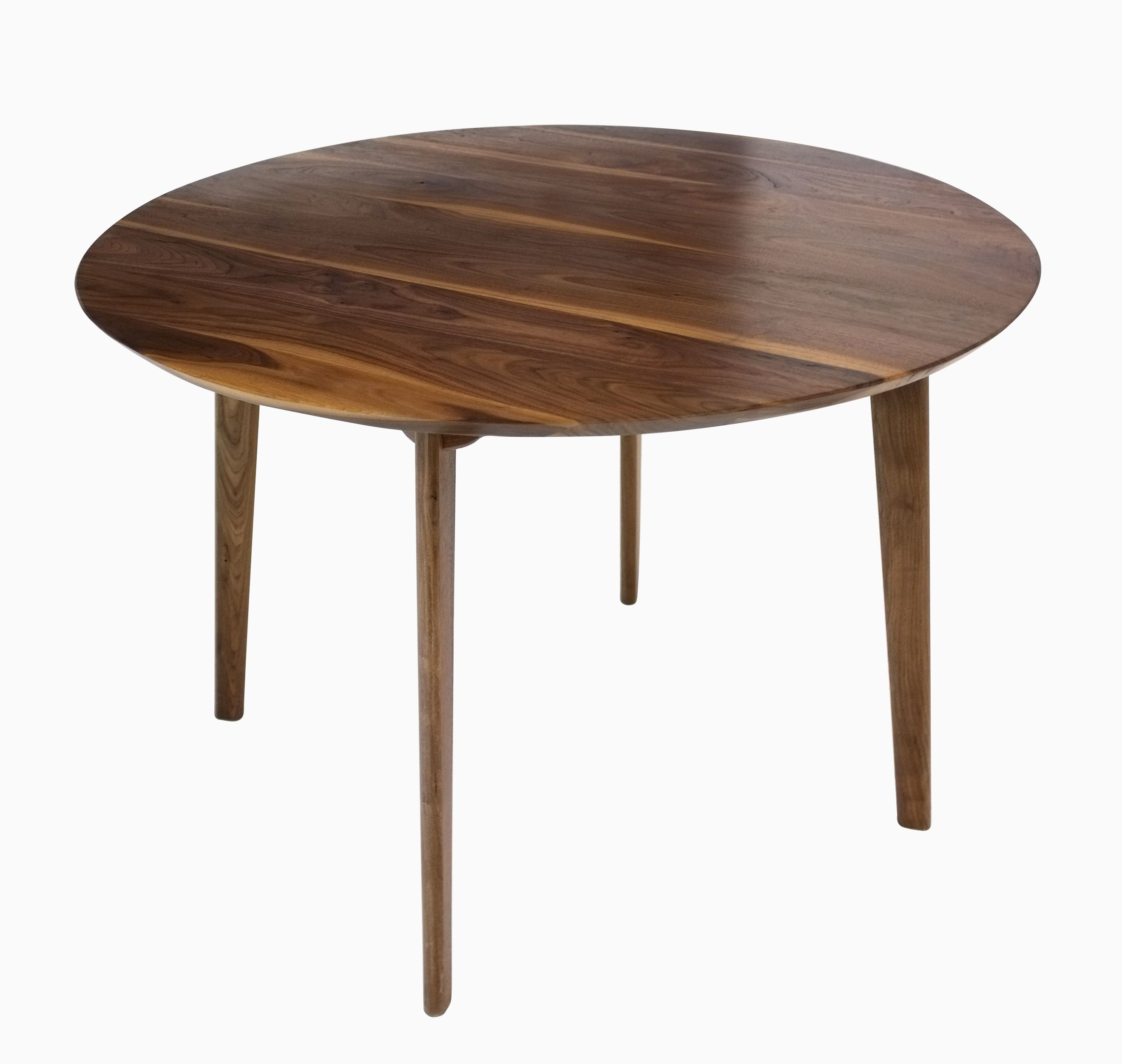 Buy a custom made isabelle mid century modern solid round for Modern round dining table