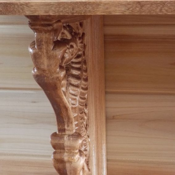 Rustic Motors 3d Custom Made Jewelry Home: Hand Crafted Corbel, Seahorse, Shelf, Cherry Wood; Rustic
