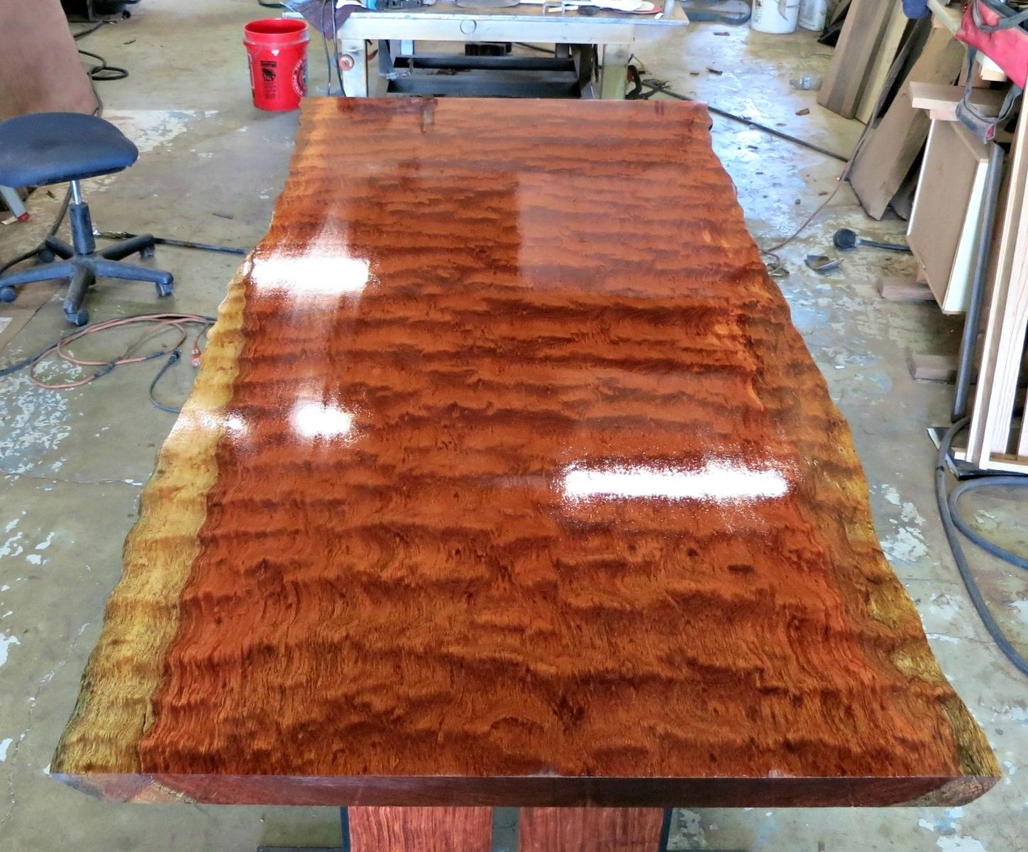 Custom Made Live Edge Bubinga Dining Table By Donald Mee