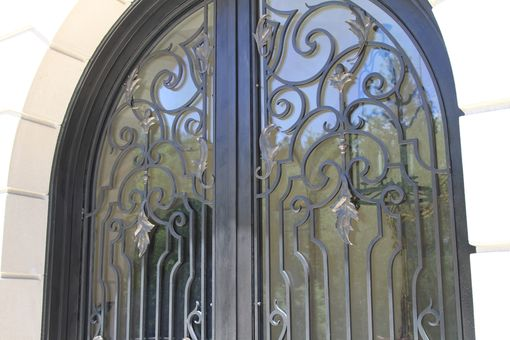 Hand Crafted Hand Forged Wrought Iron Front Entry French
