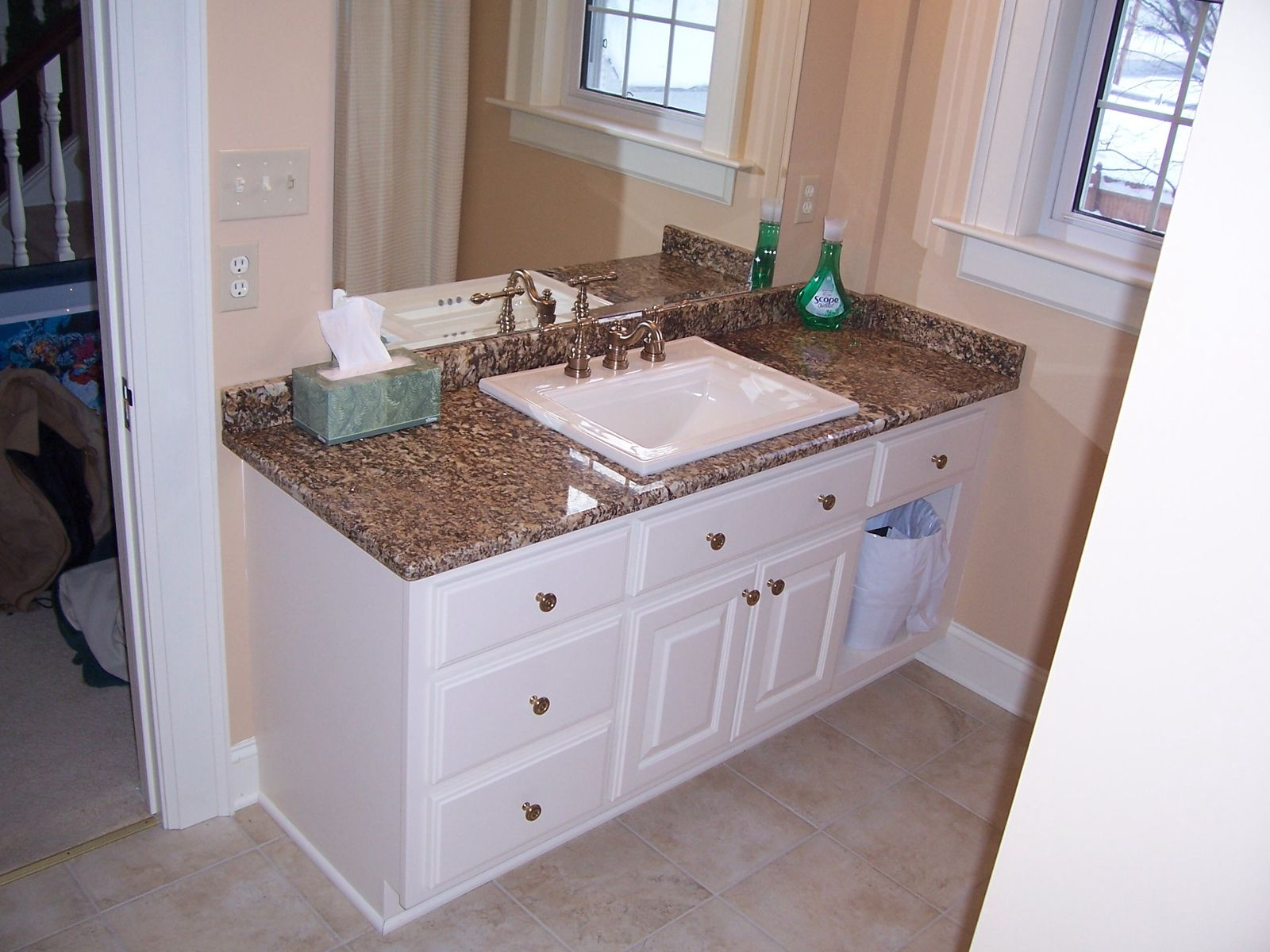 Hand Crafted Custom Painted Bathroom Vanity In Hamburg By Jeffrey William Construction Inc