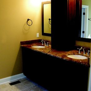 Custom contemporary four poster bed by mike willis - Custom size bathroom vanity tops ...