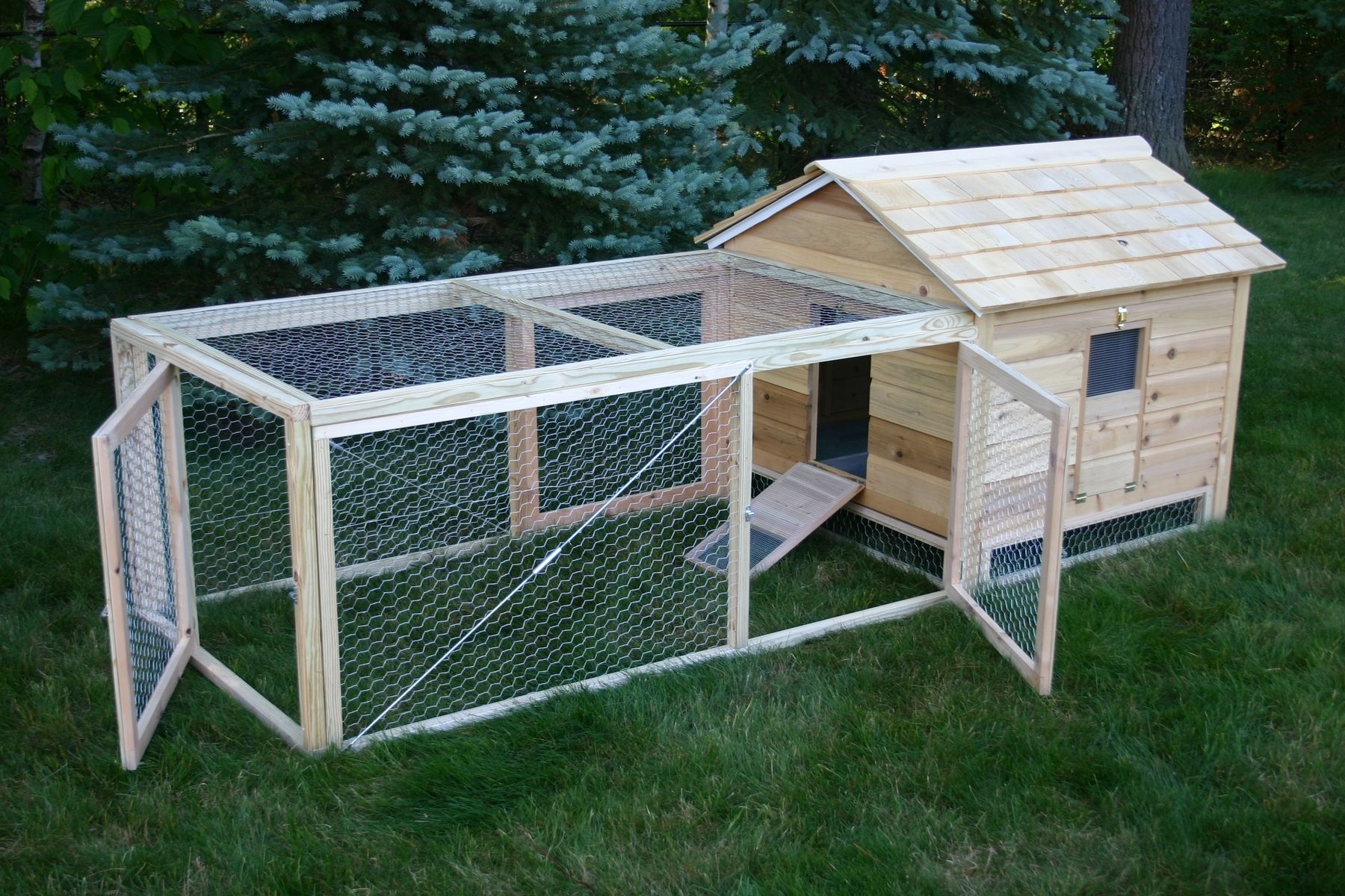 hand crafted cedar duck hutch chicken coop by lyons