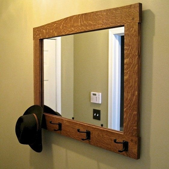 Hand made wall mirror by custom wood accents for Custom made mirrors