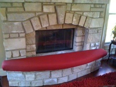 custom fireplace hearth safety cushion with curved front