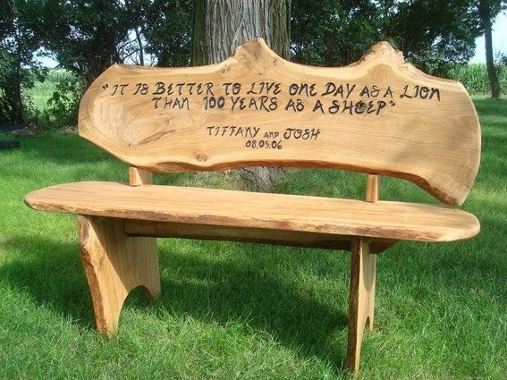 Handmade Custom Engraved Anniversary Bench by Covenant Creations : CustomMade.com