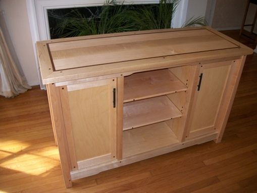 Custom Made Maple Tv Console