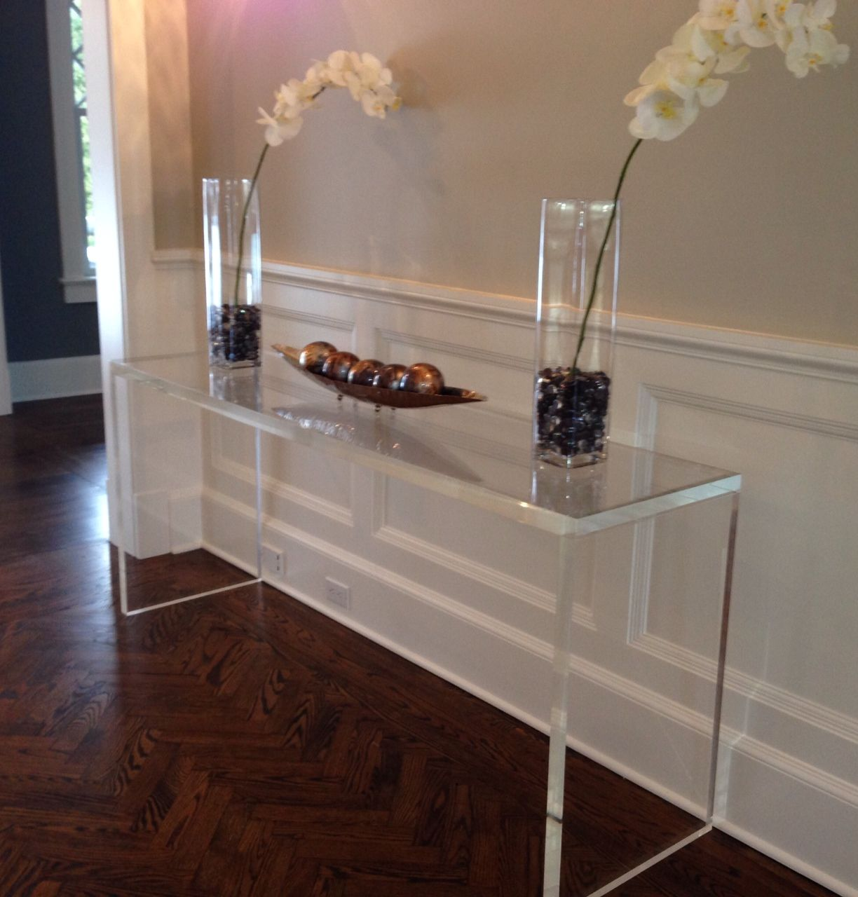 Custom Made Console Table Desk 1 5 Quot Thick Lucite