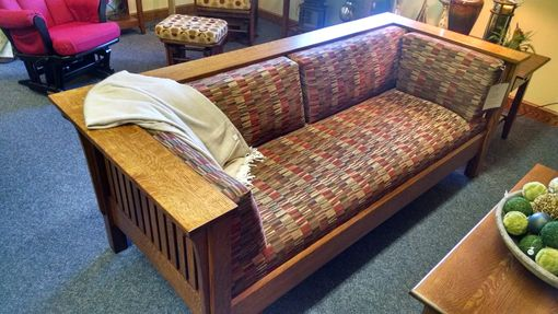 Buy A Hand Made Mission Sofa Amish Built Solid Wood