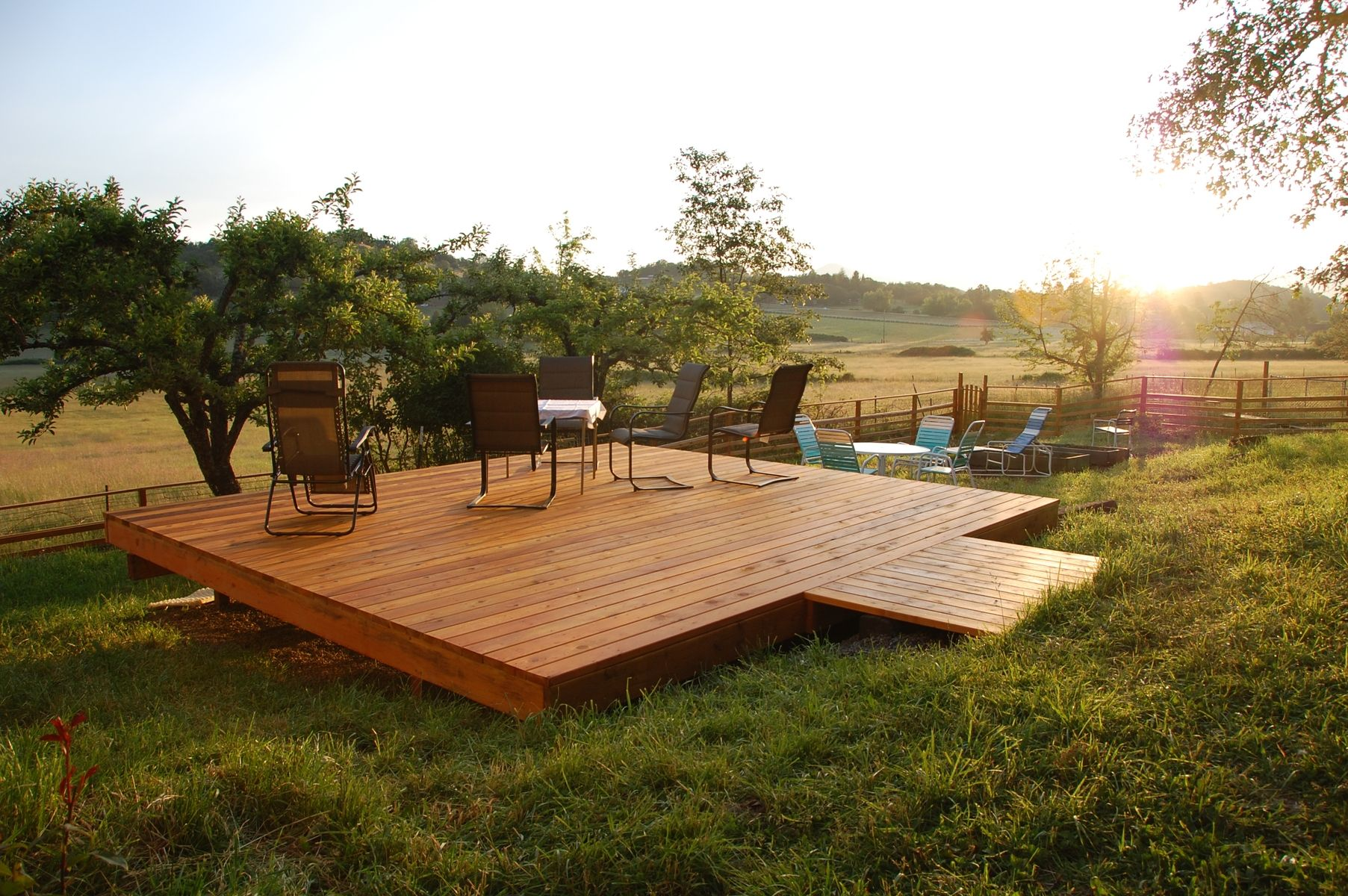 Handmade Custom Free Standing Deck By Dagan Design