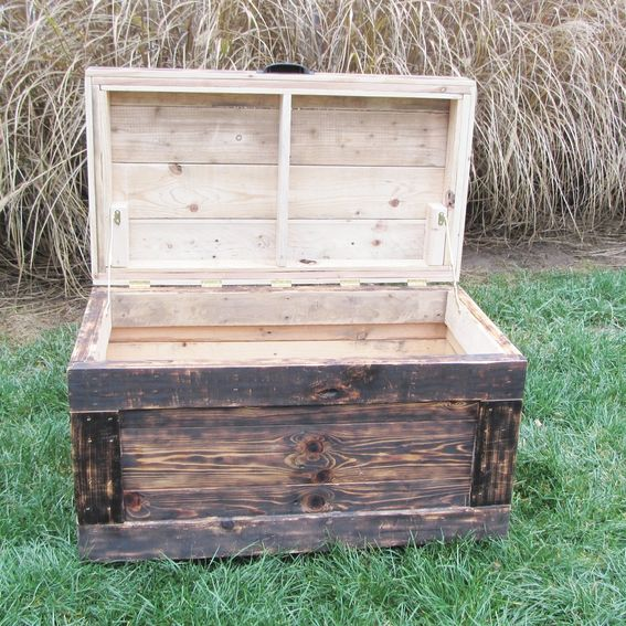 Hand Made Reclaimed Wood Chest Large Made From Reclaimed