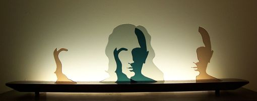 Custom Made Glass Sculpture - Two Faced
