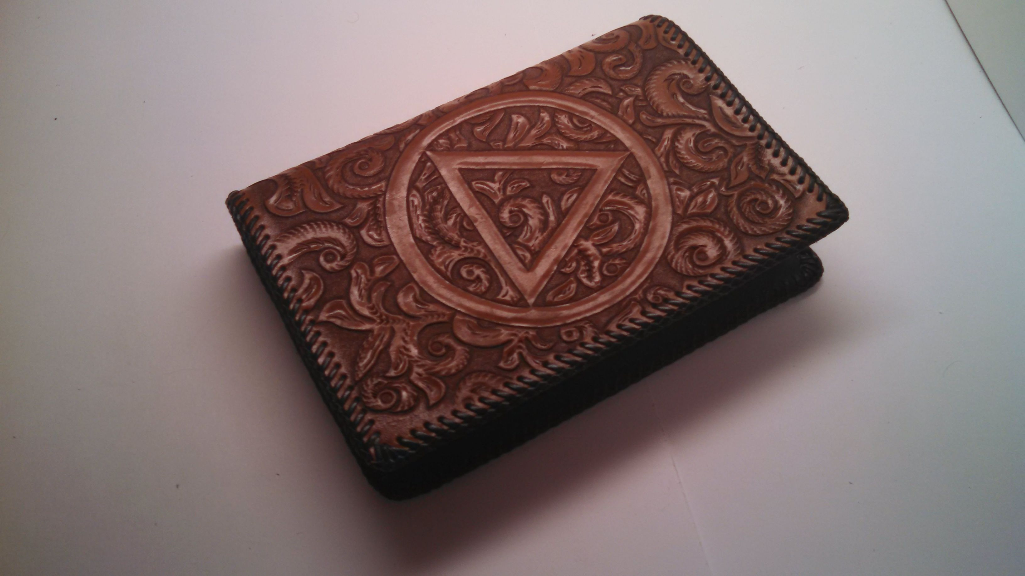 Buy A Custom Made Aa Leather Big Book Cover Made To Order