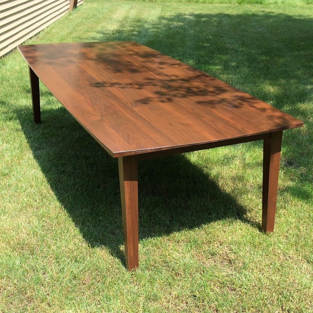 hand made walnut dining table seats 10 comfortably by glessboards. Black Bedroom Furniture Sets. Home Design Ideas