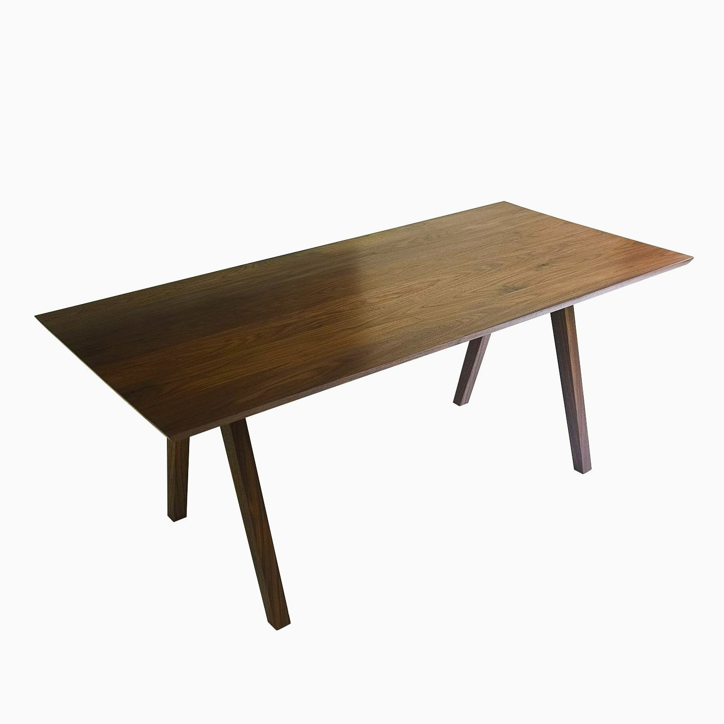 Buy A Hand Crafted Mid Century Modern Solid Walnut Dining Table The