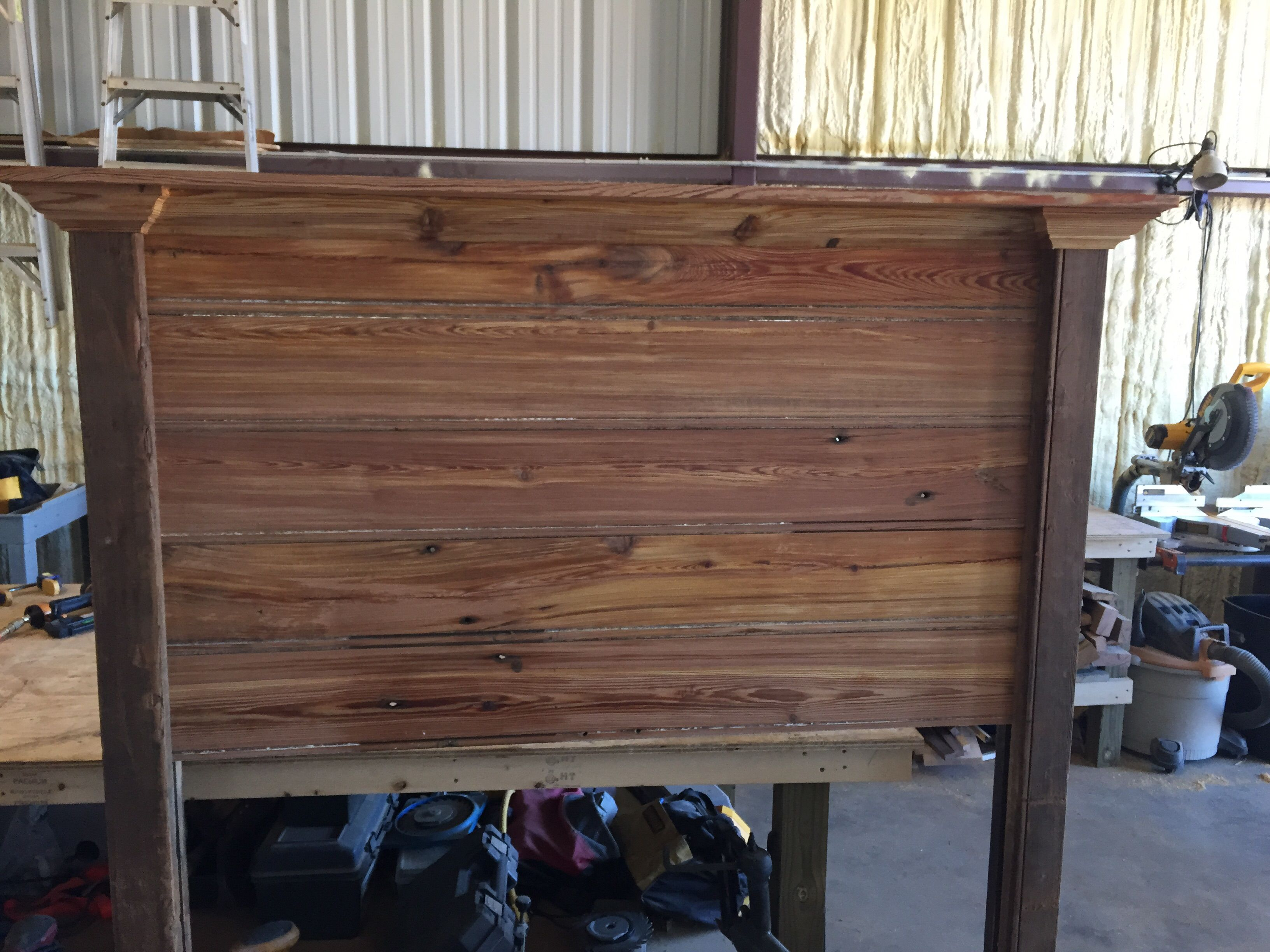 Buy A Custom Made Reclaimed Heart Pine Headboard Made To