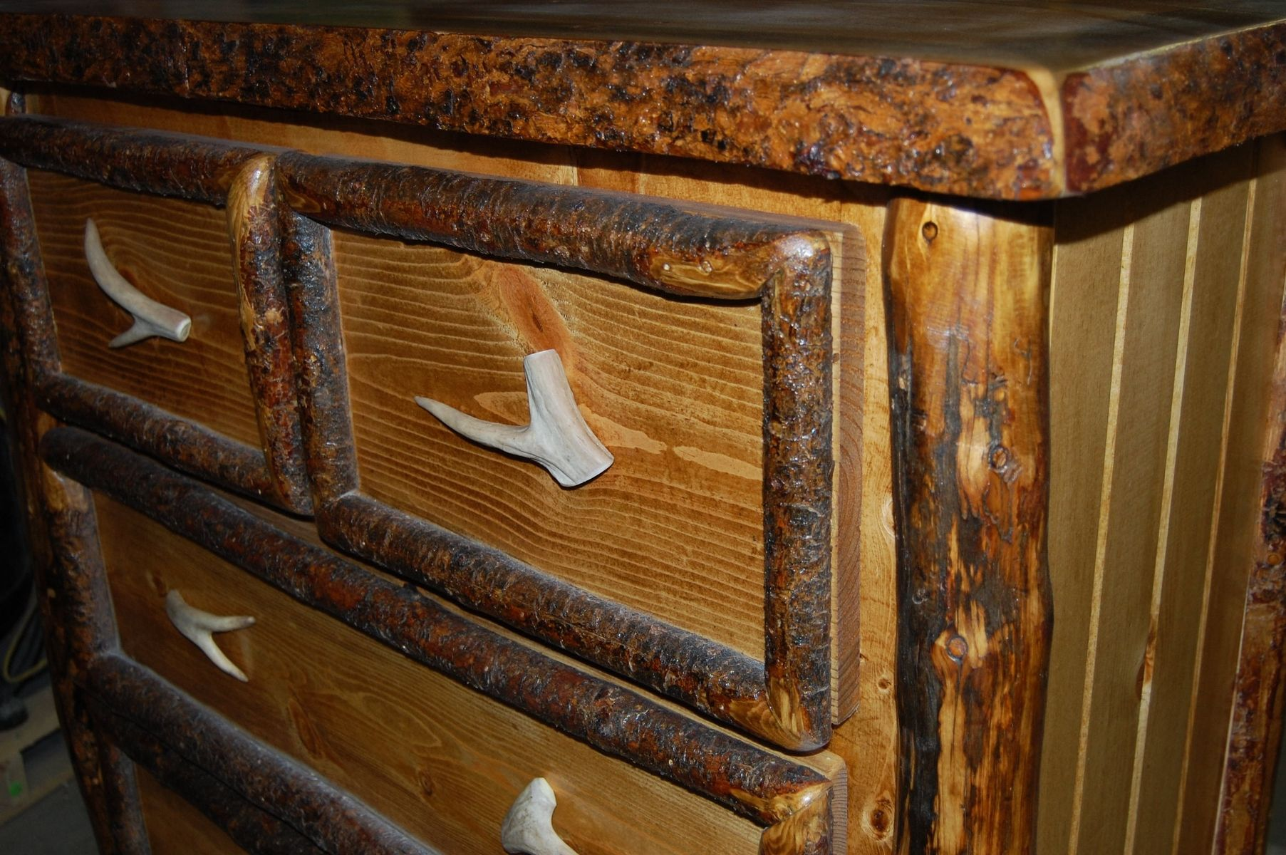Hand Made Log Cabin Dresser By Second Life Studios