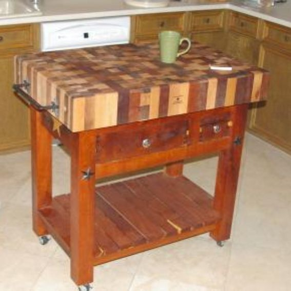 handmade butcher block table by lonestar woodworks