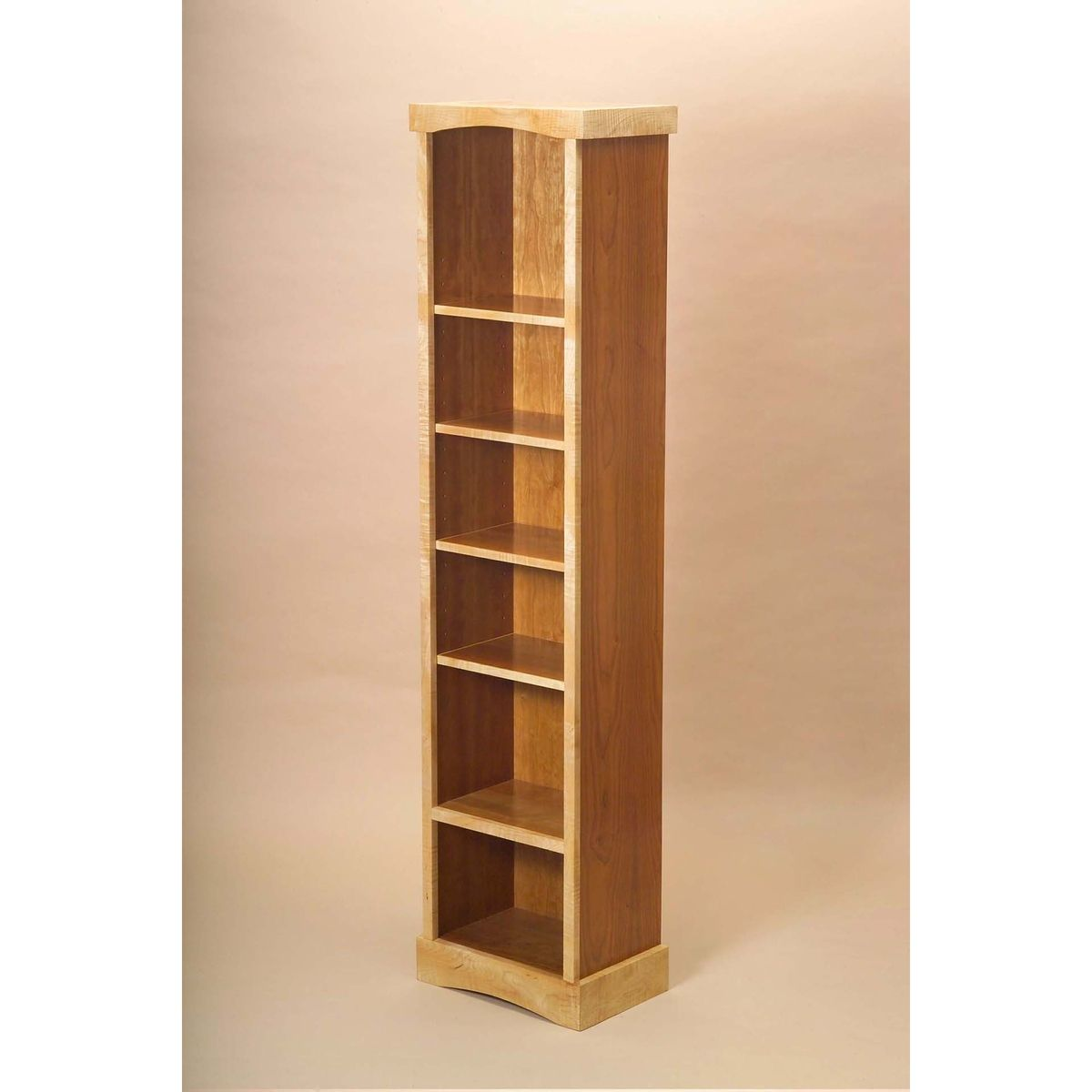 Handmade Tall Narrow Bookcase By Vb Woodworks