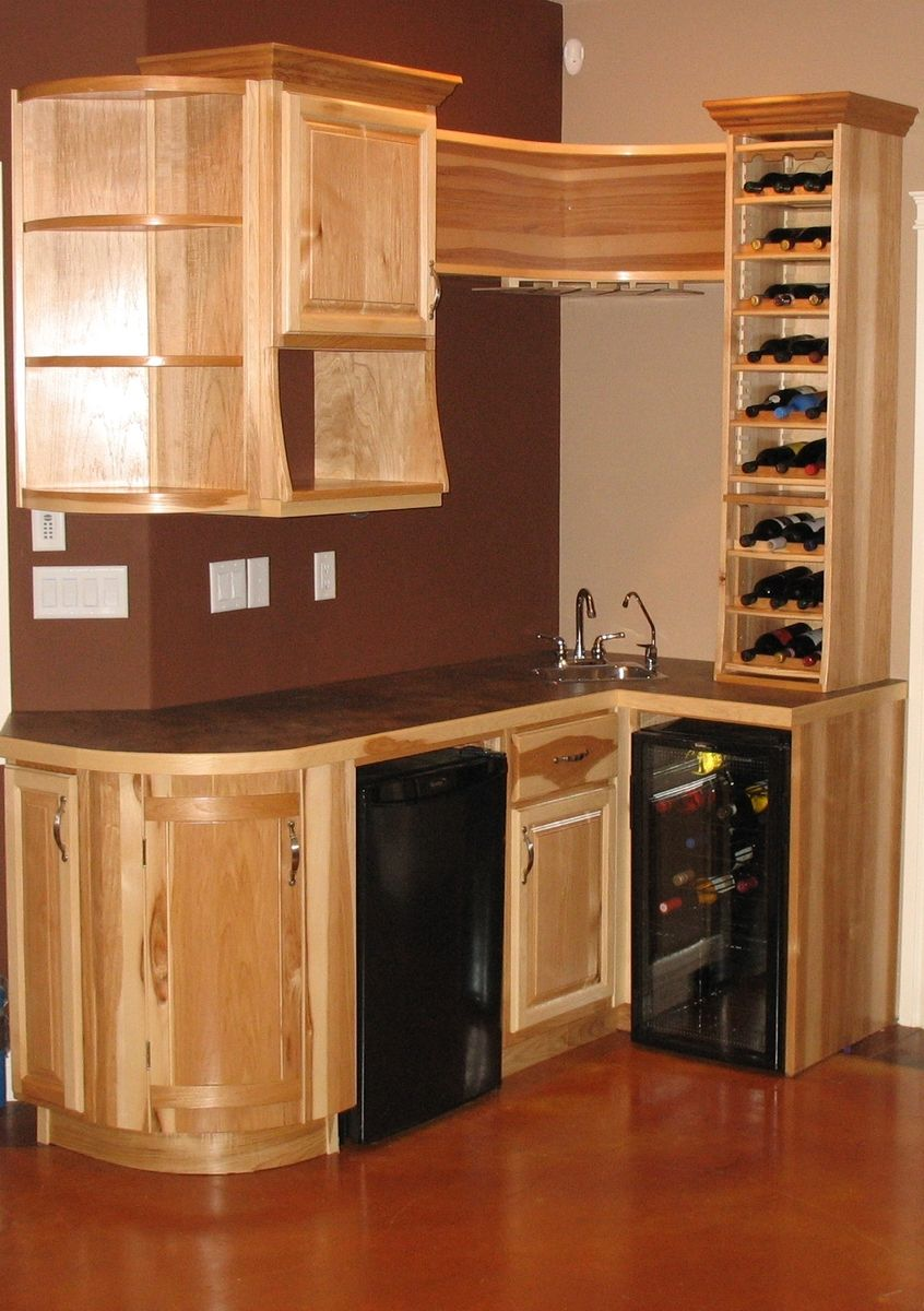 Hand Made Hickory Wet Bar By Jim Coffey Furniture