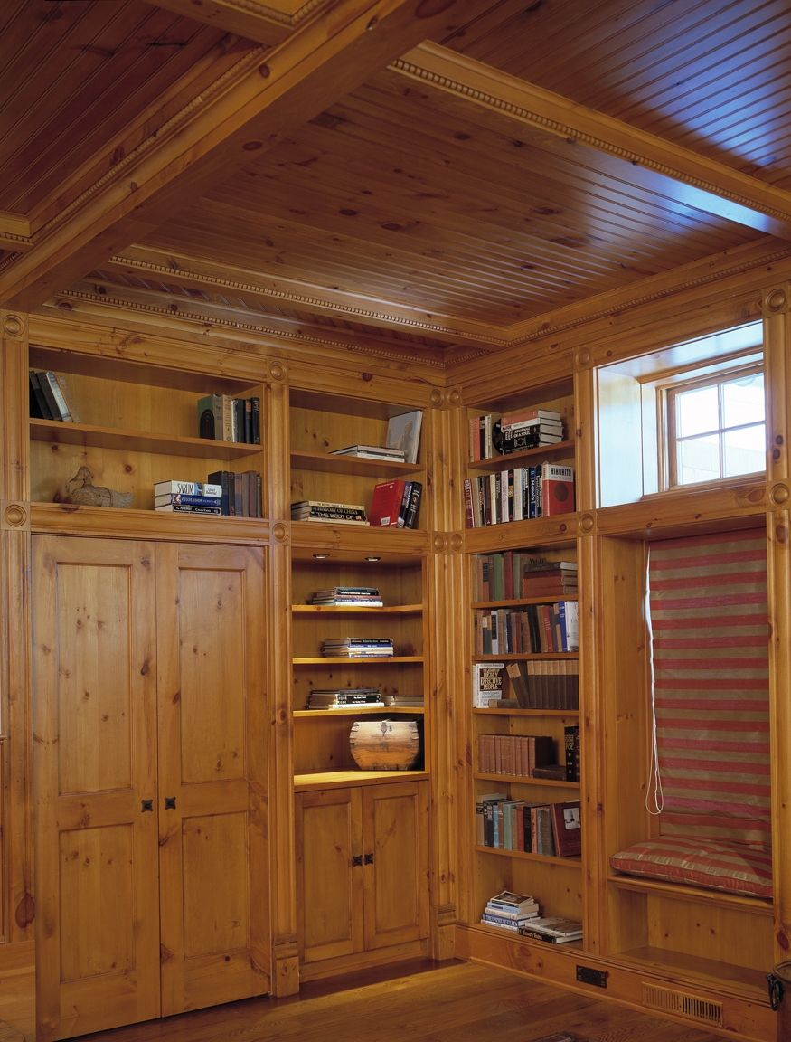 Knotty Pine Rooms: Hand Crafted Family Room In Knotty Pine