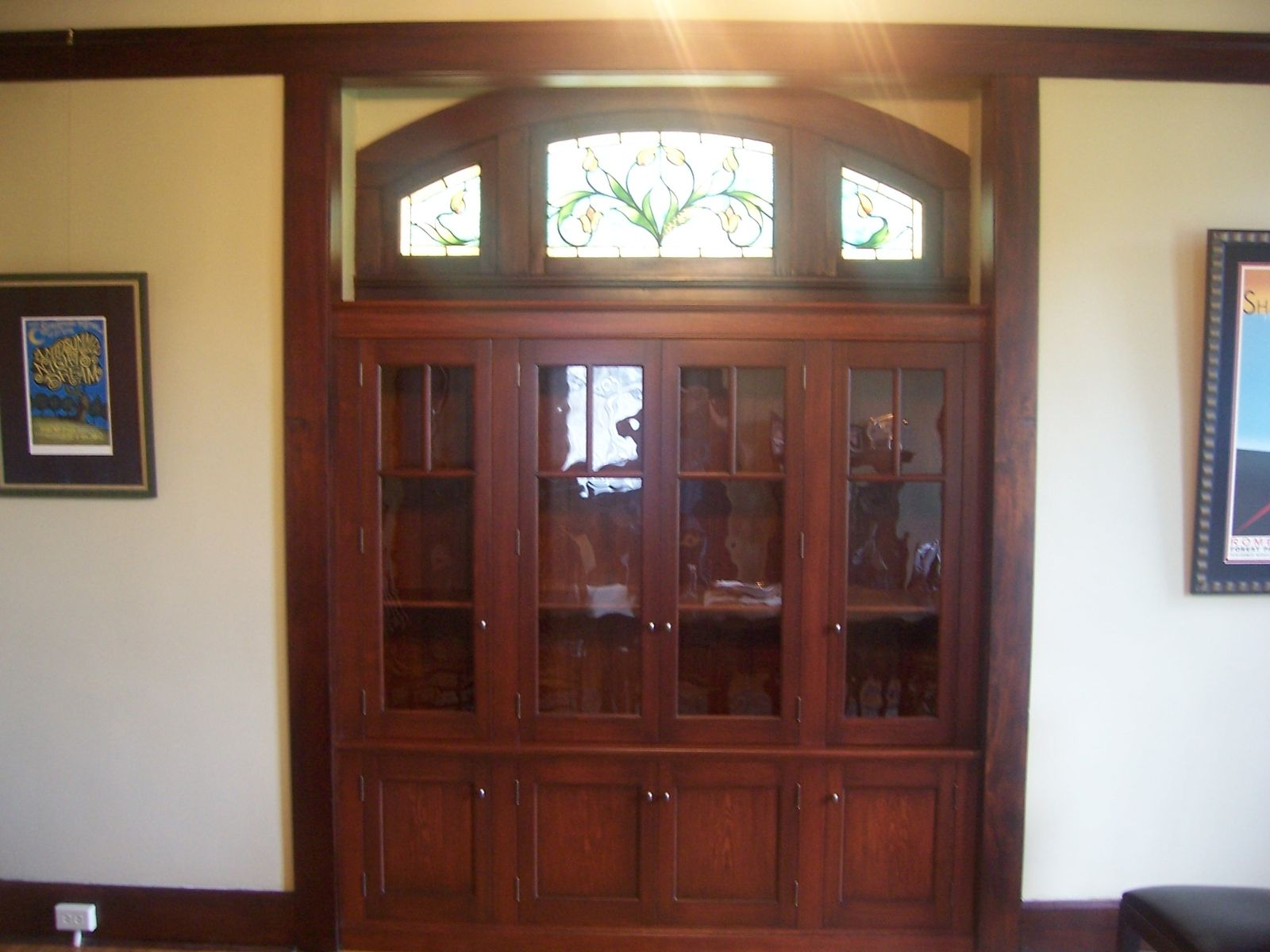 Custom built in china cabinet by cibolo valley furniture - Custom made cabinet ...