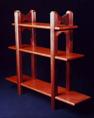 Custom Made Abriged - Cherry And Walnut Etagere