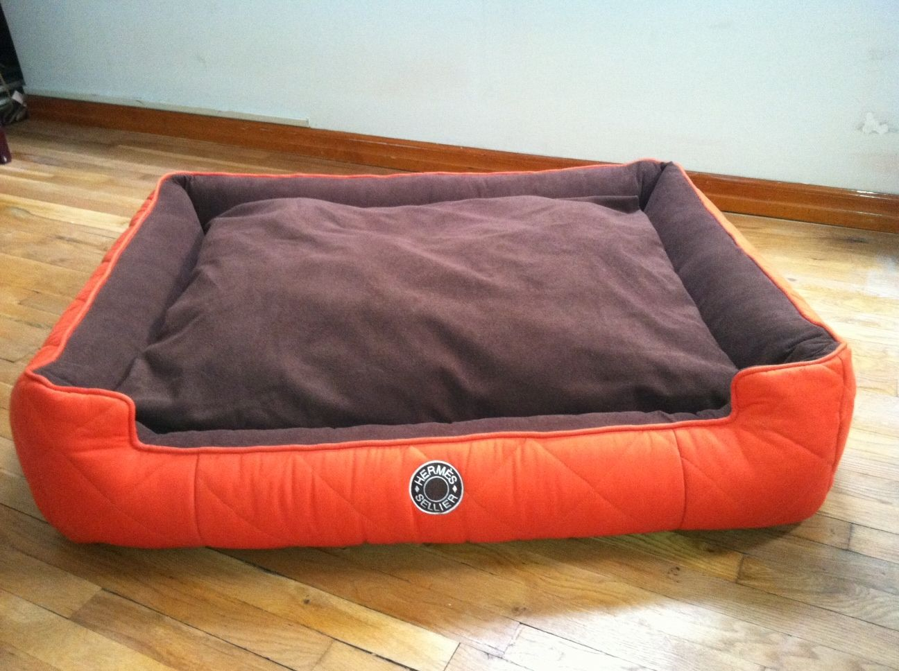 Buy A Hand Crafted Hermes Custom Dog Bed Made To Order