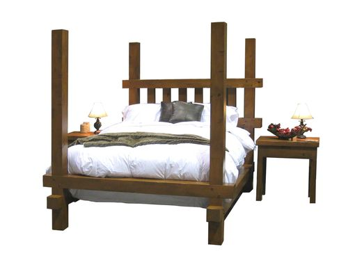 Custom Made Rustic Poster Bed