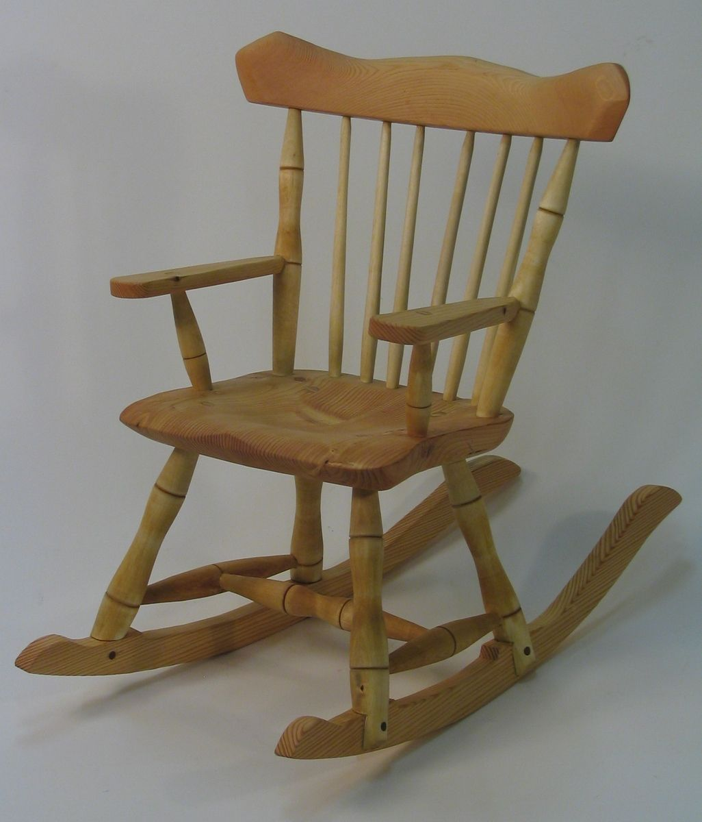 hand crafted child 39 s windsor rocking chair by silvertree woodworking