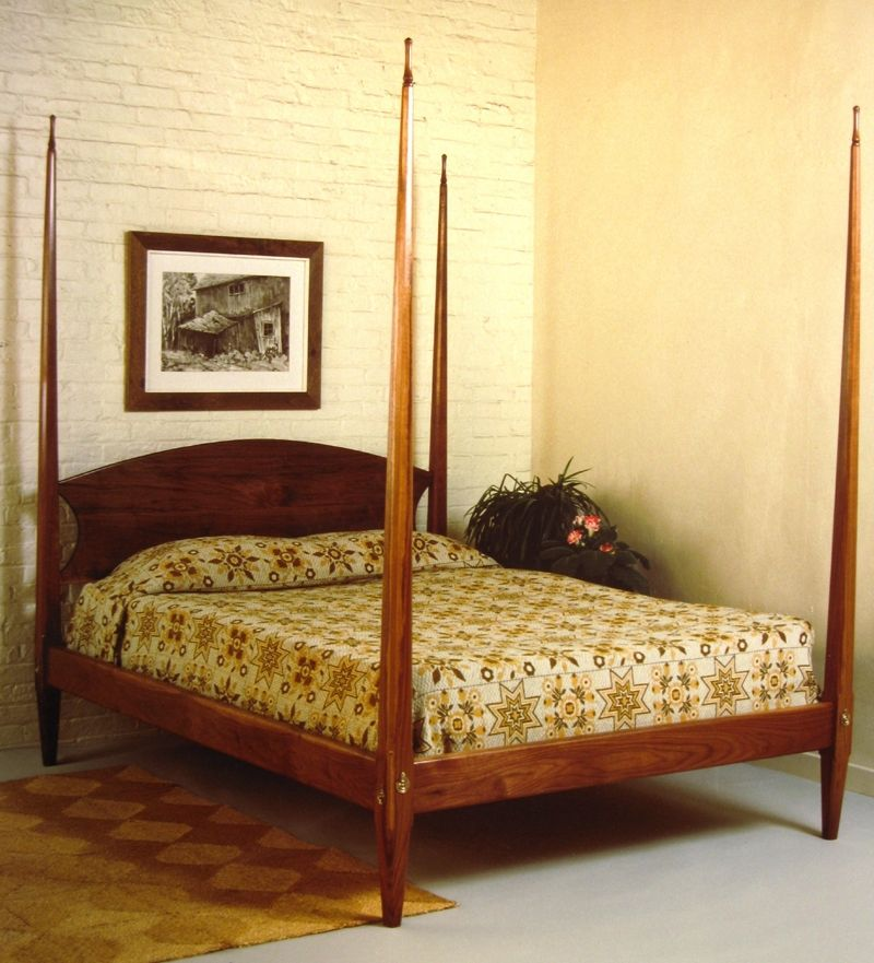 hand made pencil post bed by stephen adams fine furniture