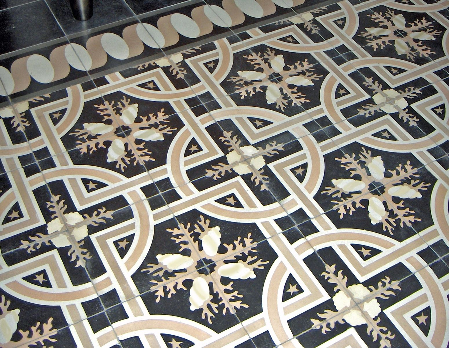Hand Made Trapani Midnight Decorative Cement Tile By
