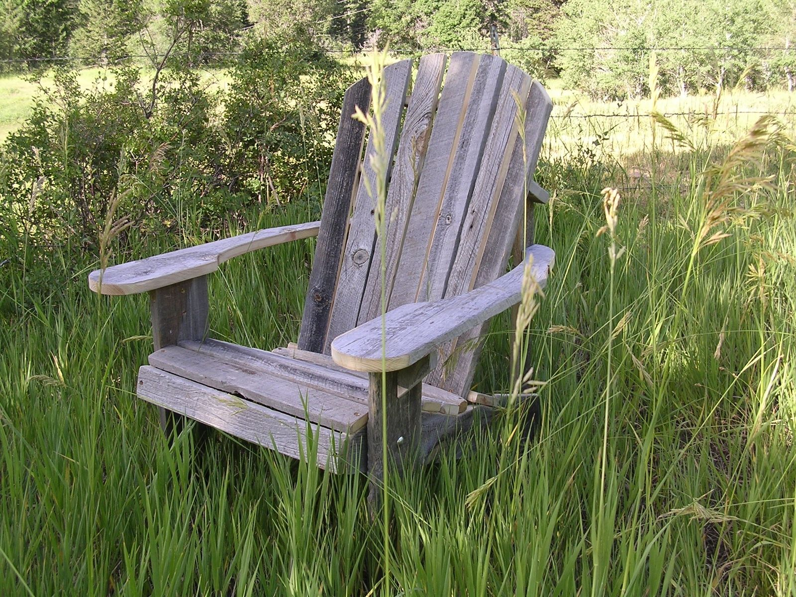 Hand Made Adirondack Chair Rustic Barn Wood Furniture By