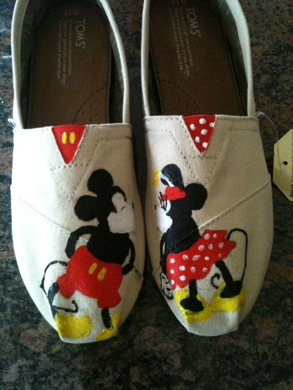 Hand Made Disney Toms By Dittmore Designs Custommade Com