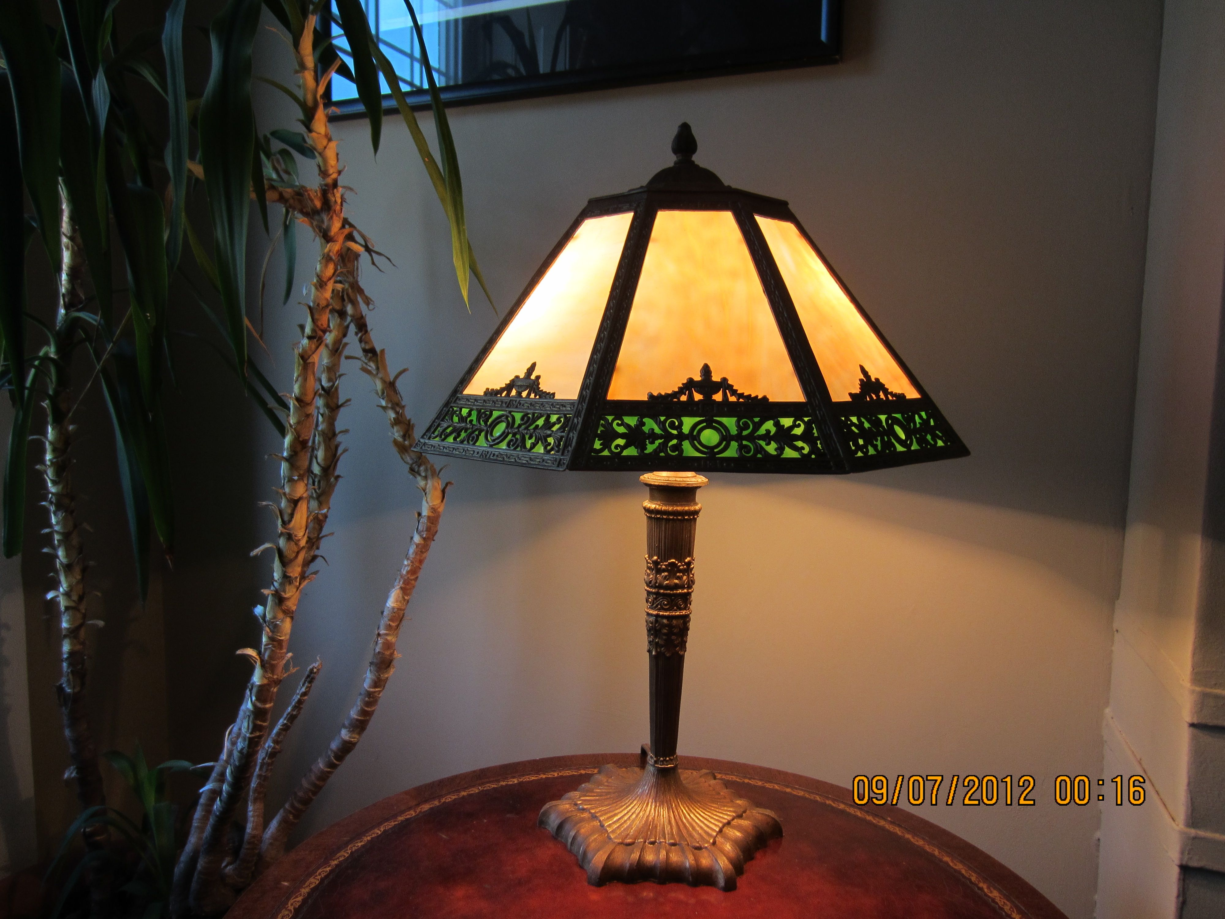 Hand Crafted Tiffany Style Lamp Restoraton By Kidd