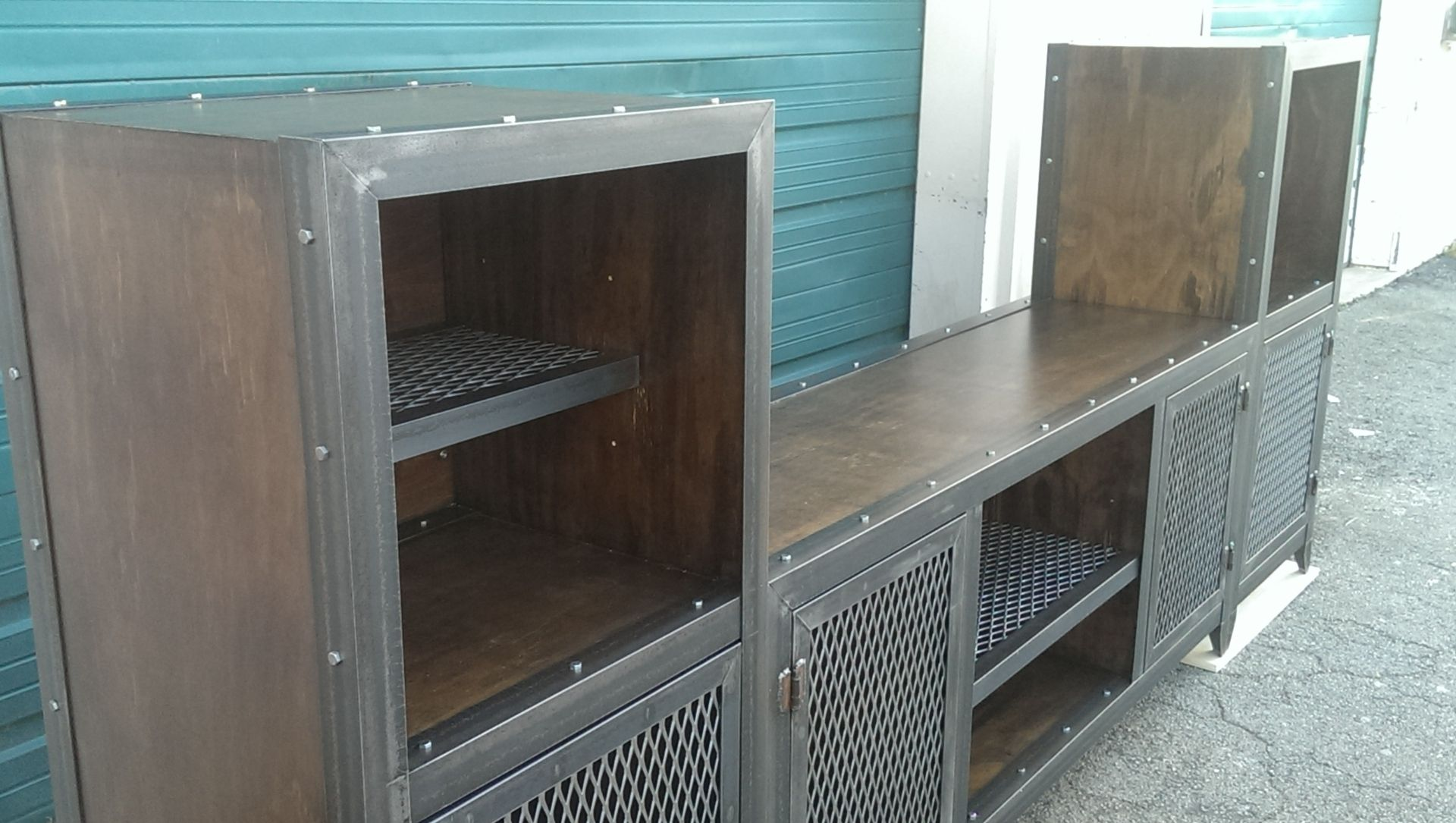 Buy A Hand Crafted Industrial Entertainment Center Made