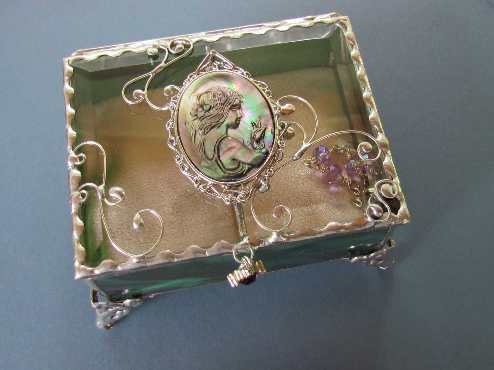Handmade unique jewelry boxes by jags jewelryart for Custom made ring box
