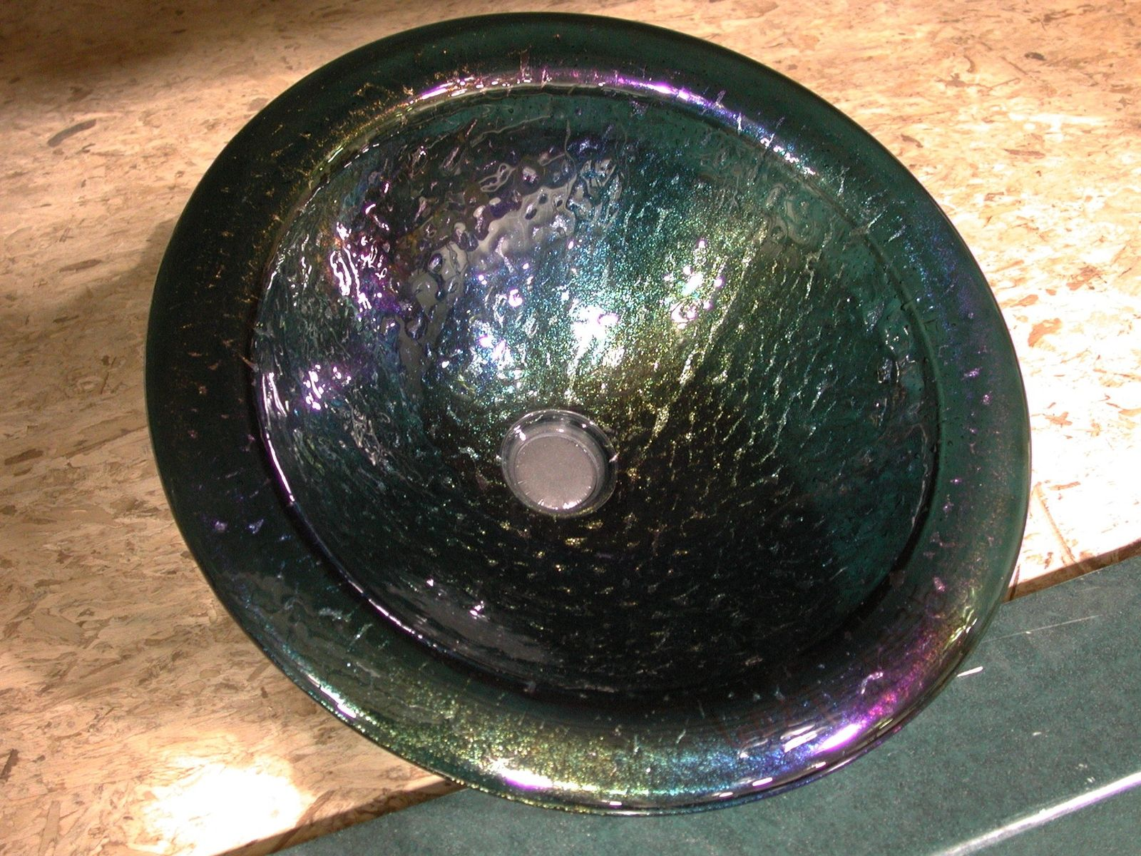 Buy A Hand Crafted Black Iridescent Sink Made To Order