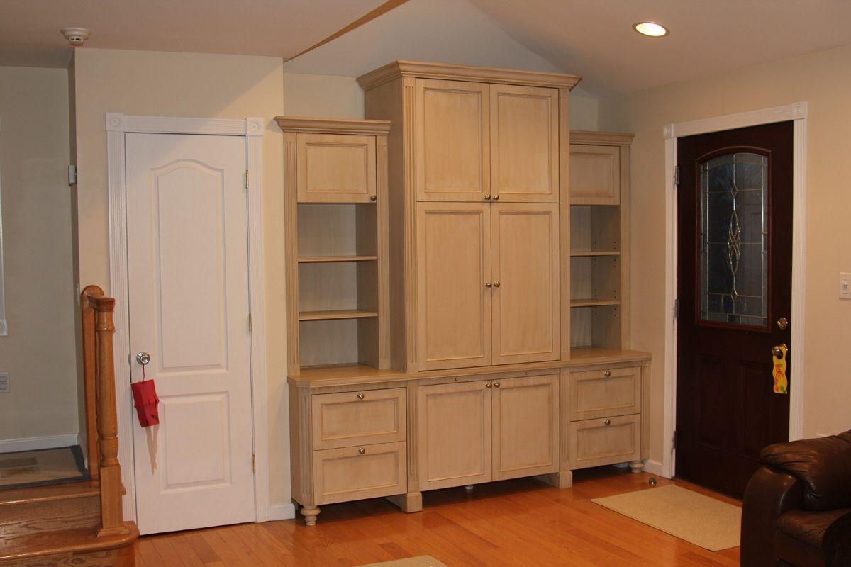 Hand Crafted Built In Wall Unit By Stan Loskot Fine