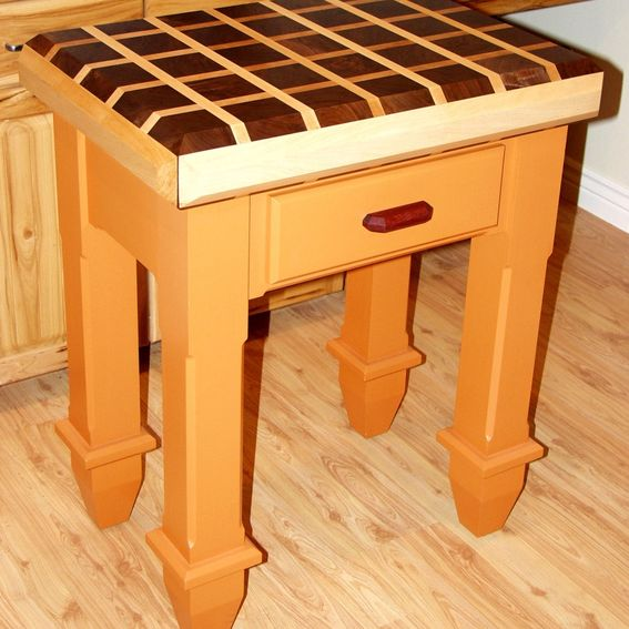 handmade butcher block island by dissident lumber works