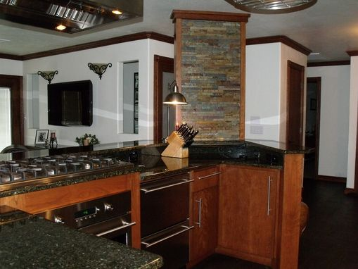 Custom Made Frank Loyd Wright Inspired Cherry Kitchen
